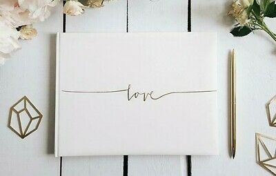 Wedding Guest Book. Guest Book with 'Love' printed on cover. 3 colour options.