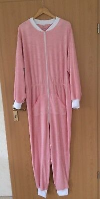 😇 Adult Baby Frottee Overall Strampler Schlafoverall Größe XL