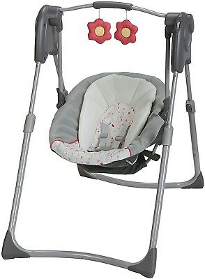 Graco Slim Spaces Compact Baby Swing Alma Infant Height Adjustable Leg New