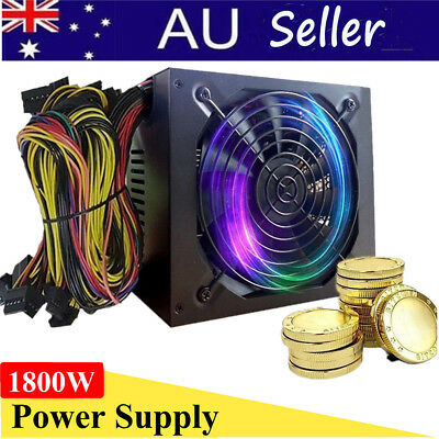 Power Supply 1800W for 6GPU Eth Rig Ethereum Coin Miner Mining Dedicated 90 Gold