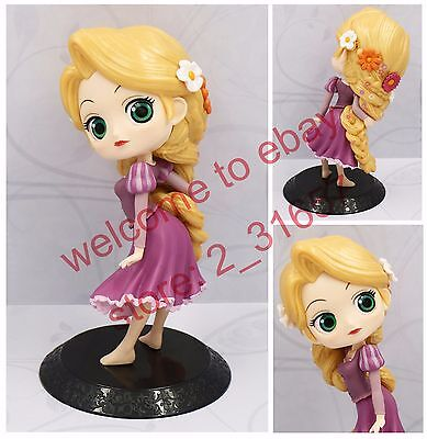 Q posket Disney Rapunzel Characters cute girl Princess PVC figure toy gift Loose