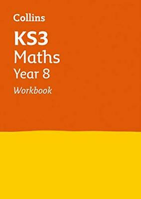 KS3 Maths Year 8 Workbook Collins KS3 Revisio by Collins KS3 New Paperback Book
