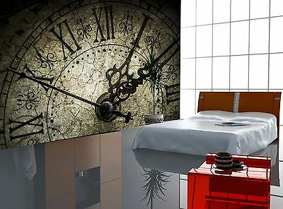Antique Clock  Photo Wallpaper Wall Mural DECOR Paper Poster Wall art