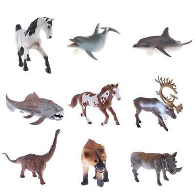 Small Plastic Realistic Wild/Fram/Ocean Animals Model Figures Figurines Toys