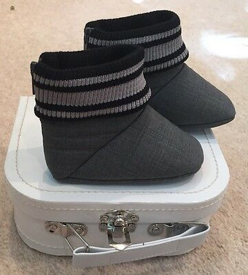 Baby Dior Shoes Booties Size 18 Grey New In Box