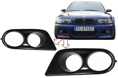 BMW E46 Fog Lamp Lights Covers M3 Sport Bumper Air Ducts Surrounding Hamann Look