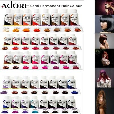Adore Semi Permanent Hair Dye Colour Ammonia Peroxide Alcohol Free 118 Ml