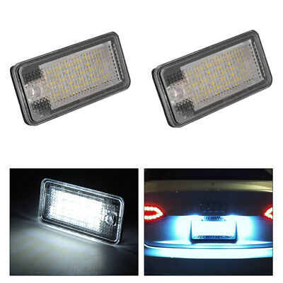 2x Error Free SMD LED License Plate Light Lamp for AUDI A3 A4 B6 B7 A6 Q7 MA1299