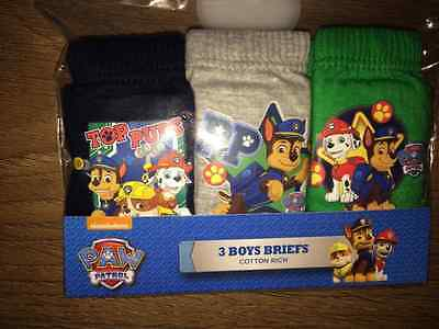 Boys Paw Patrol 3 Pack Pants Underpants Briefs Age 18-24 months Cotton FREEPOST