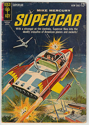 Mike Mercury Supercar #4 Gold Key Comics 1963 Silver Age 12c Good
