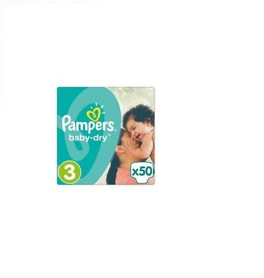 Couches pampers BABY DRY Taille 3 - 50 COUCHES