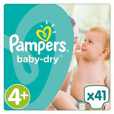 Couches pampers BABY DRY Taille 4+ 4PLUS - 41 COUCHES