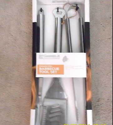 Barbecue BBQ Tool Set Stainless Steel  Grill Patio Kenmore Tailgate Silver