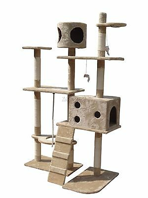 FoxHunter Cat Tree Scratching Post Activity Centre Bed Toys Scratcher 2299  t