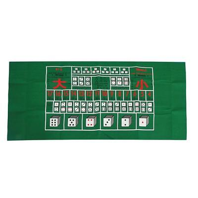 Portable Poker and Game Mat Folding Poker Layout Poker Dice Game Casino Game