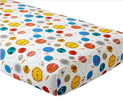 The Land of Nod Organic DEEP SPACE Crib/Toddler Fitted Sheet