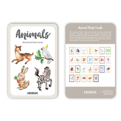 NEW ANIMALS Flash Cards. Made in AUSTRALIA