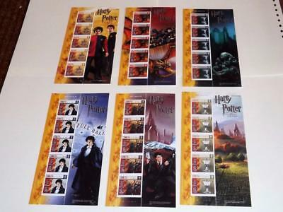 Isle Of Man-2005-Harry Potter-Goblet Of Fire-6 Complete Mini Shts-Scarce-Unm-Mnh