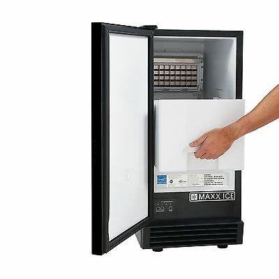 "REFURB Maxx Ice MIM50V Undercounter Built-In 14.6"" Energy Star Clear Ice Maker"