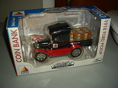 NEW Boxed Gearbox Collectible CITGO 1918 Ford Runabout Pickup Coin Bank Ser 0385
