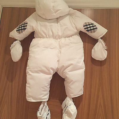 Burberry Baby Snowsuit With Detachable Mittens Booties Padded Hooded New