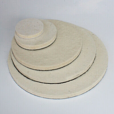 1'' 2'' 4'' 5'' 7'' Wool Felt Polishing Buffing Wheel Hook&Loop Pad Disc Waxing