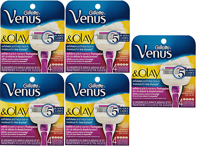 Gillette Venus & Olay Women's Razor Blade Refills, 4 Cartridges (5 Pack)