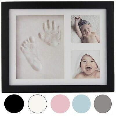 Precious Prints Baby Gift Hand & Foot Print Clay Cast Kit 2 Picture Photo Frame