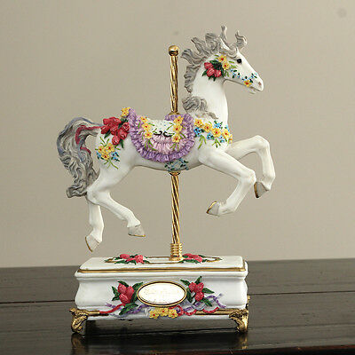 """Intricate Music Horse - SF Music Box Co """"Tulip Prancer"""" - EXCELLENT condition!"""