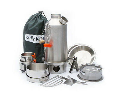 Kelly Kettle Ultimate 'Base Camp' Kit (Stainless Steel) - VALUE DEAL