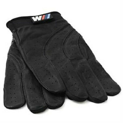 BMW M Driving Gloves Black Leather large Sized 80160435736  OEM