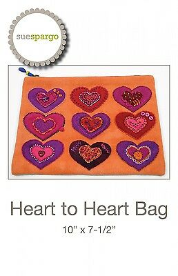 HEART TO HEART BAG EMBROIDERY PATTERN, From Sue Spargo Folk-Art Quilts, *NEW*