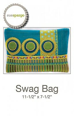 SWAG BAG HAND EMBROIDERY PATTERN, From Sue Spargo Folk-Art Quilts, *NEW*