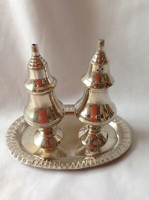 Silver Plated EPNS salt And Pepper With Tray