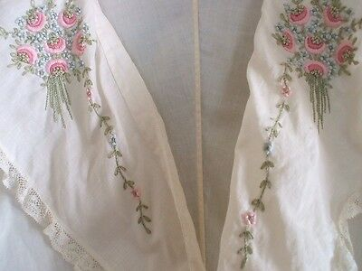Antique Blouse -Extraordinary Embroidery and Lace Trim