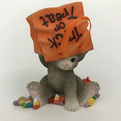 Calico Kittens Still Searching for More Sweets Cat Figurine 104147 Halloween