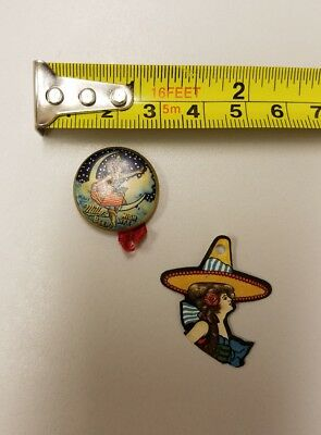 Vintage Miller High Life Pre-prohibition Pinback, Button Girl in the Moon