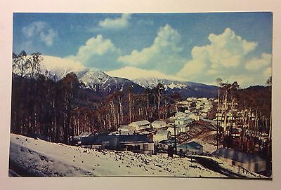 BELLA VISTA WORKS TOWNSHIP coloured postcard SNOWY MOUNTAINS