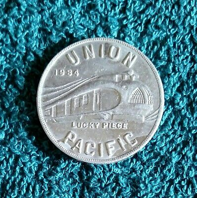 1934 Union Pacific Lucky Piece - Alcoa