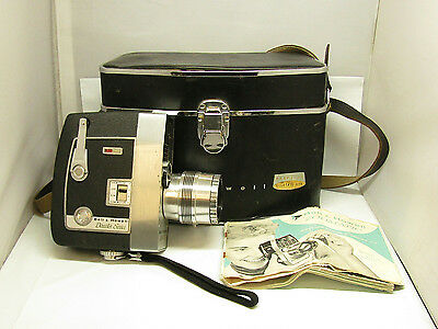 Bell & Howell Director Series Zoomatic Movie Camera Bundle Hard Case