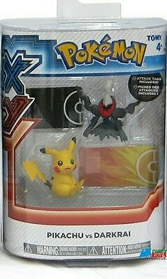 "Pokemon 2-Pk Small 2"" Toy Plastic Action Figure - Pikachu vs. Darkrai"