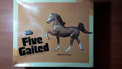 Breyer Animal Creations hand painted Five Gaited Model No. 52 Sorrel with box