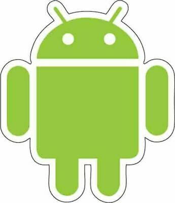Android Robot Vinyl Decal Sticker Choice of Size /& Colors!