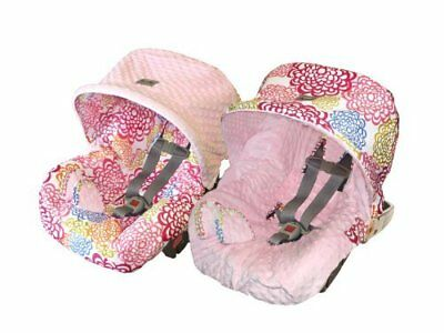Itzy Ritzy Baby Ritzy Rider Infant Car Seat Cover, Fresh Bloom.
