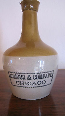 Armour & Company Chicago Stoneware Jug American Pottery Advertising Vintage 8 ""
