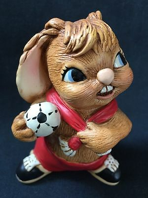 PenDelfin Rabbit Figurine - CHUCK (red) Made in UK - NEW, FREE USA SHIPPING