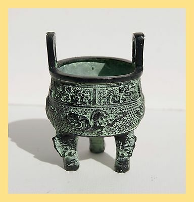 CHINESE TEMPLE VESSEL - Bronze Modern Repro, From CHINA