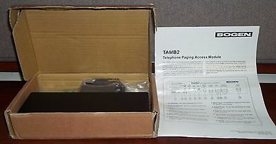 Bogen TAMB2 Telephone Paging Access Module New Open Box