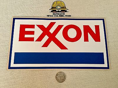 Large Exxon Gasoline Oil Advertising Sticker Decal