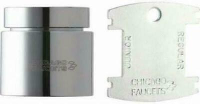 Chicago Faucets E3VPJKCP Vandal Proof Aerator Pressure Compensating Softflo